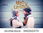 Young Winter Couple Against...
