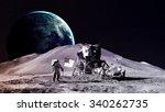 Astronaut On The Moon. Element...