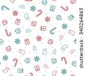 christmas background. christmas ... | Shutterstock .eps vector #340264865