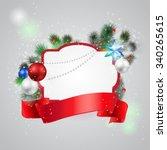 christmas frame background   Shutterstock .eps vector #340265615