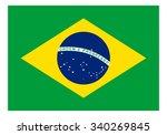 brazil flag | Shutterstock .eps vector #340269845