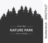 pine forest. nature park | Shutterstock .eps vector #340273127