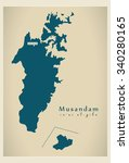 modern map   musandam om | Shutterstock .eps vector #340280165