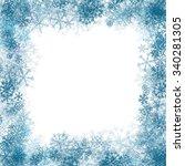 snowflake frame   Shutterstock .eps vector #340281305