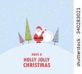 christmas background  poster ... | Shutterstock .eps vector #340283021