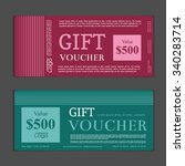 gift voucher template   Shutterstock .eps vector #340283714