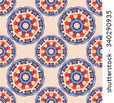 traditional textile pattern | Shutterstock .eps vector #340290935