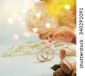 wedding ring  | Shutterstock . vector #340291091