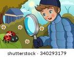 a vector illustration of cute... | Shutterstock .eps vector #340293179