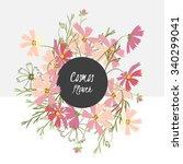 floral retro vintage background ...   Shutterstock .eps vector #340299041