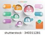 medical info graphic design... | Shutterstock .eps vector #340311281