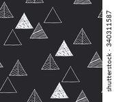 Seamless Hand Drawn Triangles...
