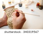 pottery. painting pottery. | Shutterstock . vector #340319567