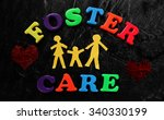 paper family with foster care... | Shutterstock . vector #340330199
