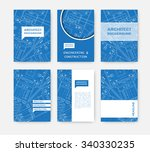 vector technical blueprint of ... | Shutterstock .eps vector #340330235