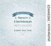 christmas light vector... | Shutterstock .eps vector #340344425