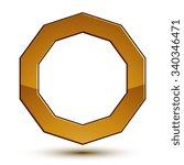 heraldic vector template with... | Shutterstock .eps vector #340346471