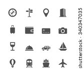 vacation icons | Shutterstock .eps vector #340347035