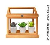 terrarium with succulents  | Shutterstock .eps vector #340352135