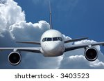 Airliner in flight - stock photo
