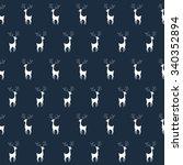 christmas deers. vintage vector ...   Shutterstock .eps vector #340352894