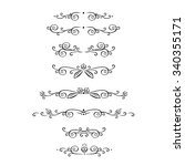 vector set of calligraphic... | Shutterstock .eps vector #340355171