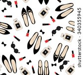 seamless fashion accessories... | Shutterstock .eps vector #340355945