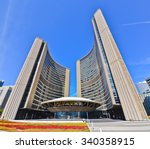 Stock photo toronto canada october view of toronto city hall in a sunny day in toronto on october 340358915