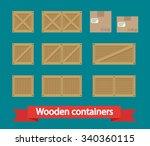 cargo boxes icon vector. flat... | Shutterstock .eps vector #340360115