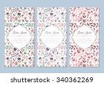 cute vintage doodle floral... | Shutterstock .eps vector #340362269
