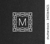vector floral monogram. art... | Shutterstock .eps vector #340364621