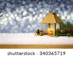 christmas decoration with... | Shutterstock . vector #340365719