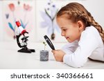 young student studies small... | Shutterstock . vector #340366661