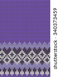 vector knitted geometrical... | Shutterstock .eps vector #340373459