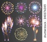 festive firework. abstract...   Shutterstock .eps vector #340376345