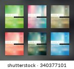 vector flyer design templates... | Shutterstock .eps vector #340377101