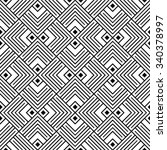 black and white geometric... | Shutterstock .eps vector #340378997