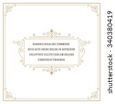 vintage ornament quote marks... | Shutterstock .eps vector #340380419
