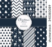 collection of seamless patterns.... | Shutterstock .eps vector #340383089