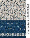 seamless paisley and flower... | Shutterstock .eps vector #340383464