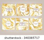 vector set ink texture... | Shutterstock .eps vector #340385717