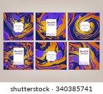 vector set ink texture... | Shutterstock .eps vector #340385741