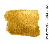 gold texture. brush stroke...   Shutterstock .eps vector #340386464
