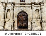 closeup of the main door of the ...