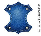 denim label. blue | Shutterstock . vector #340389101