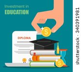 invest in education concept.... | Shutterstock .eps vector #340391981