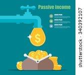 passive income concept. cartoon ...   Shutterstock .eps vector #340392107