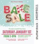 christmas holiday bake sale...   Shutterstock .eps vector #340395011