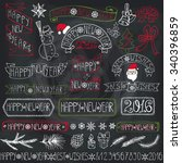 christmas season decorations...   Shutterstock .eps vector #340396859