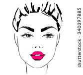 women face vector | Shutterstock .eps vector #340397885
